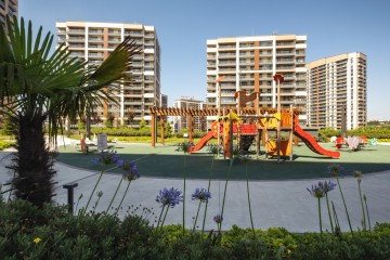 Apartments for sale in Eyup Istanbul within a luxury residential complex