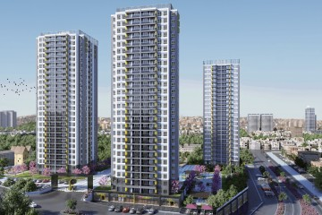 Apartments for sale in Güngüren Istanbul within a ready complex
