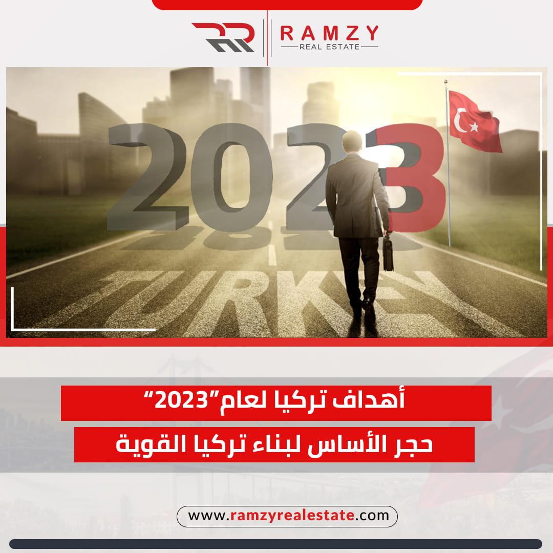أهداف تركيا لعام 2023، تُشير الى سطوع شمس الإمبراطورية العثمانية من جديد