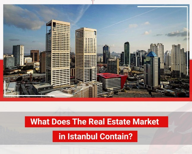 What does the real estate market in Istanbul contain ?