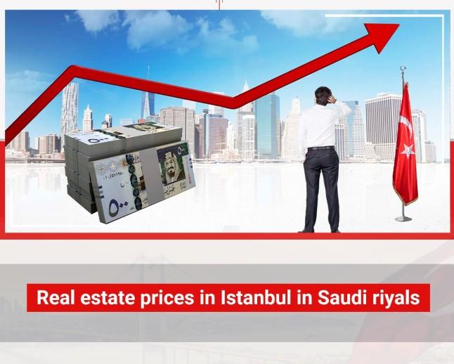 Real estate prices in Istanbul in Saudi riyals