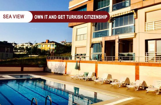Own a 4+2 apartment overlooking the Marmara Sea and get Turkish citizenship    REF 356