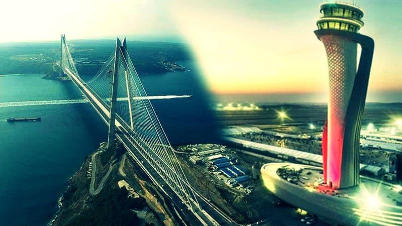 حسور البوسفور ومطار إسطنبول هي مشاريع البنية التحتية الأهم في إسطنبول