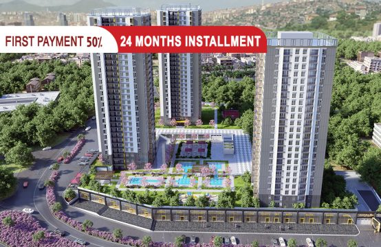 Apartments for sale in Güngüren Istanbul within a ready complex || PRO 208
